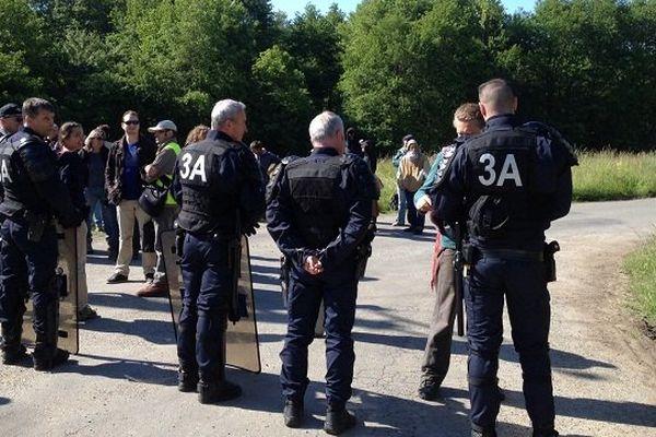 Les forces de l'ordre sont intervenues à la mi mai 2014 pour déloger les occupants du site prévu pour la construction du barrage de Sivens.