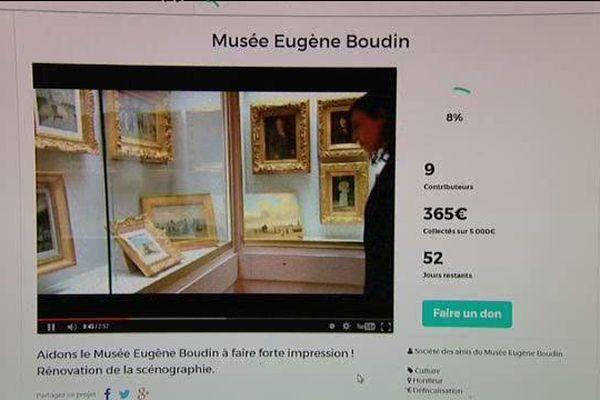 La page consacrée au musée Eugène Boudin sur le site de crowd-funding.