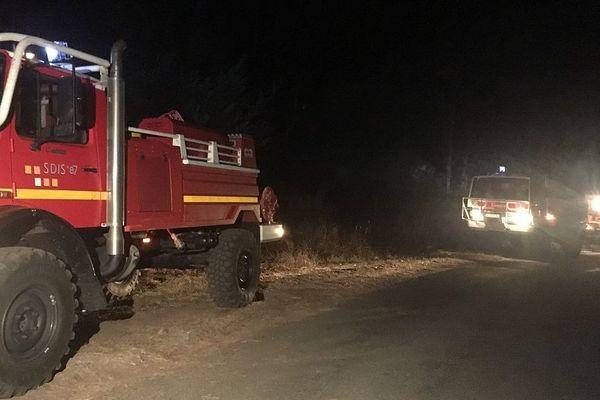 Important feu de forêt à Saint-Sylvestre en Haute-Vienne