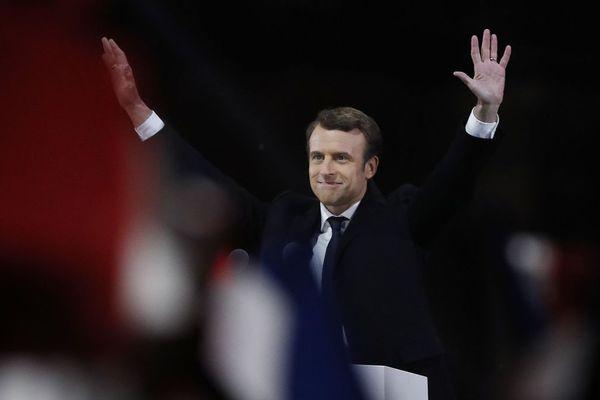 Emmanuel Macron, le soir de son élection à la présidence de la République, dimanche 7 mai 2017