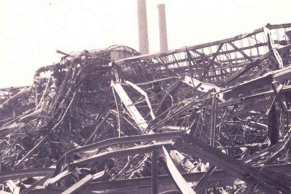 Au lendemain du bombardement des usines Michelin, à Clermont-Ferrand, en mars 1944.
