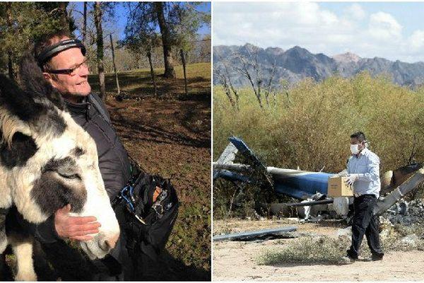 Les restes d'un des deux hélicoptères qui s'est écrasé près de Villa Castelli (Argentine), lundi 9 mars 2015.