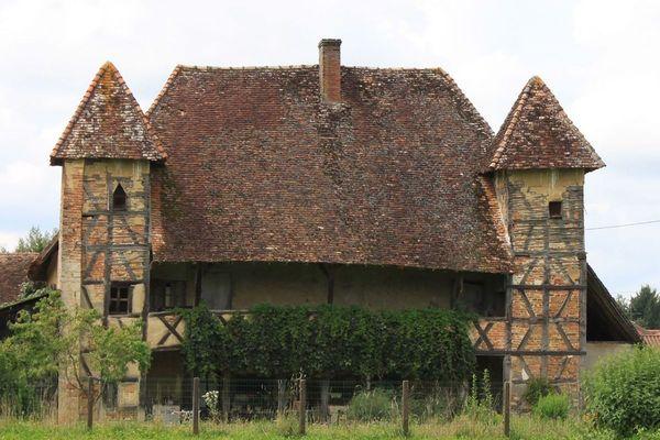 La Maison du Bailli, à Sagy, dans la Bresse louhannaise, en Saône-et-Loire.