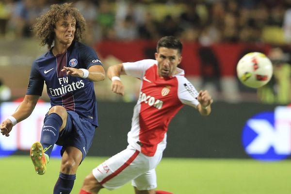 David Luiz du Paris-Saint-Germain, lors du match ASM/PSG, le 28 août 2016.