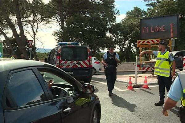 Des gendarmes entrain de réguler la circulation aux alentours du Castellet en 2018.