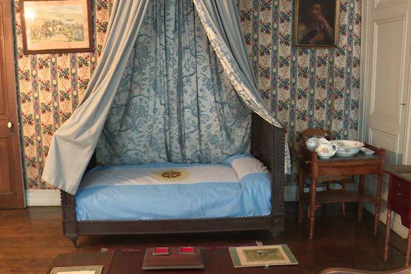 La chambre du général San Martin, où il a vécu de 1848 à 1850.