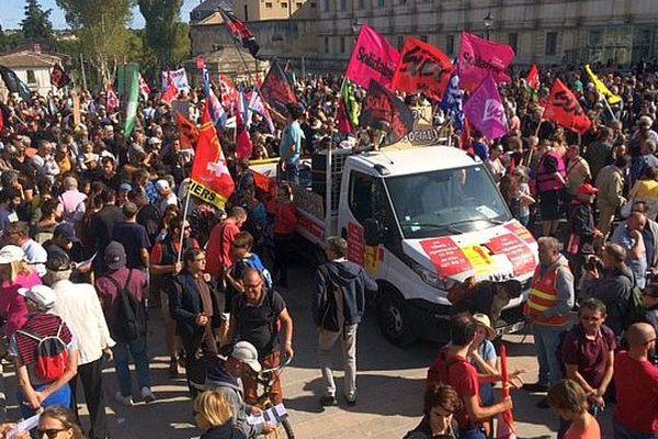 Montpellier - 2.500 personnes manifestent contre la réforme du Code du travail - 12 septembre 2017.