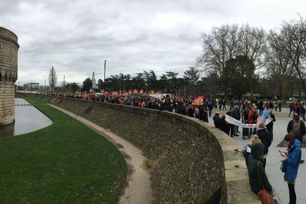 Nantes, jeudi 20 février, environ 1700 manifestants contre la réforme des retraites