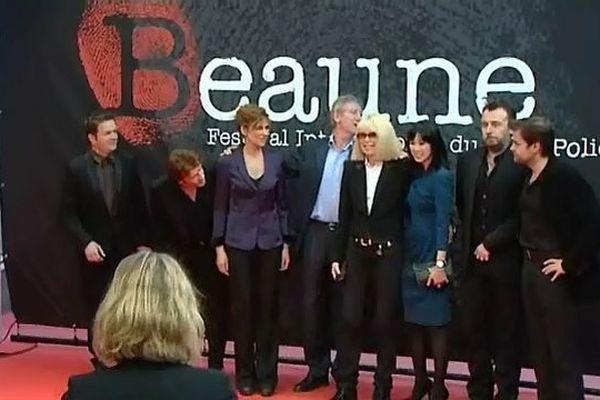 Le photo call du Festival de Beaune 2011 avec Mireille Darc et Clovis Cornillac
