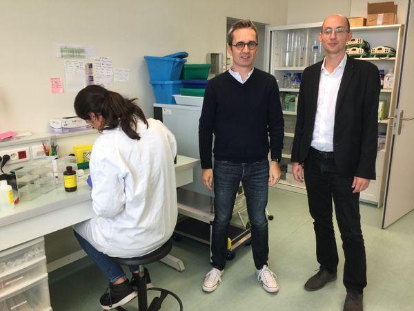 Frédéric Laumonnier, chercheur et Patrick Vourc'h, enseignant-chercheur