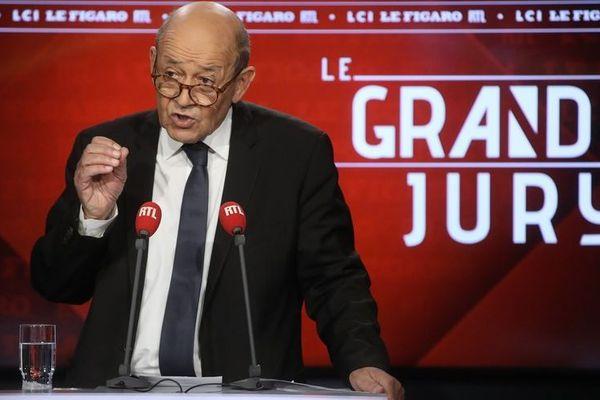 Jean-Yves Le Drian, le ministre des Affaires étrangères, invité du Grand Jury RTL, Le Figaro, LCI