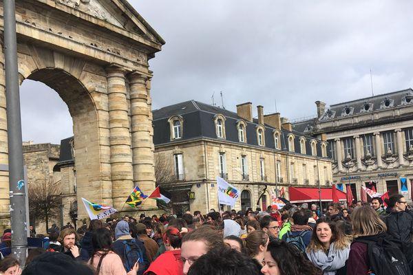 Beaucoup de professeurs parmi les manifestants