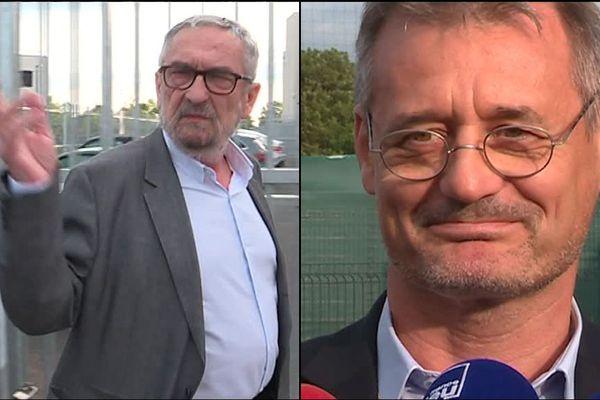 Jean-François Fortin, à gauche, est remplacé par Pierre Esnée à la tête du groupe des actionnaires majoritaires du Stade Malherbe de Caen