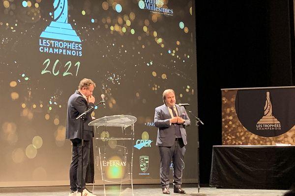 Pierre Hermé a reçu son trophée du champenois de l'année le 8 octobre 2021 à Epernay.