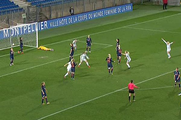 Montpellier - 1/4 de finale aller de Ligue des champions dames, le MHSC battu 2 à 0 par Chelsea - 21 mars 2018.