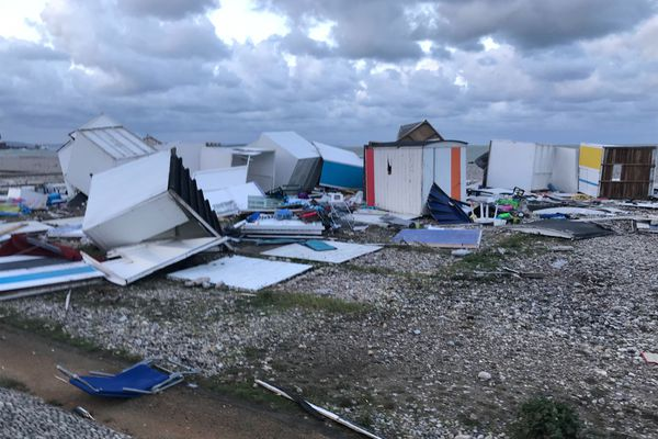 Le Havre - 25 septembre 2020 : les dégâts sur le front de mer après le passage d'une tornade