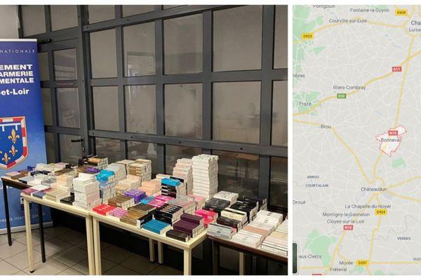La gendarmerie a saisi 1.169 flacons de parfums contrefaits.