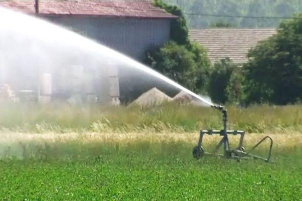 Les agriculteurs du Val-de-Saône ont déjà recours à l'arrosage