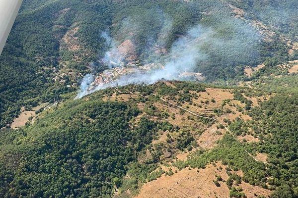 Un incendie s'est déclaré ce vendredi aux alentours de 13h30 dans le massif des Cévennes - 4 septembre 2020