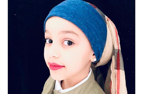Jeune fille à la perle de Johannes Vermeer Tableau imité