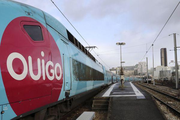 Photo d'archives, Paris décembre 2017. Les trains Ouigo arrivent à Toulouse à partir du 6 juillet 2019