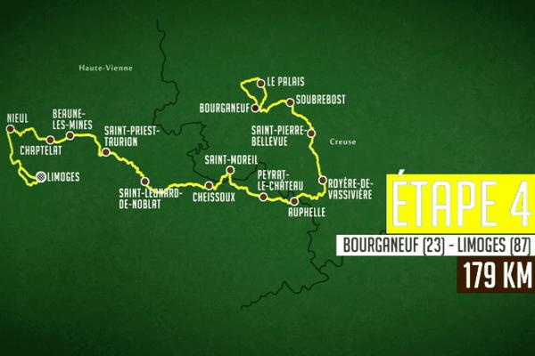 4ème étape : Bourganeuf (23) - Limoges (87) - 178.8 km