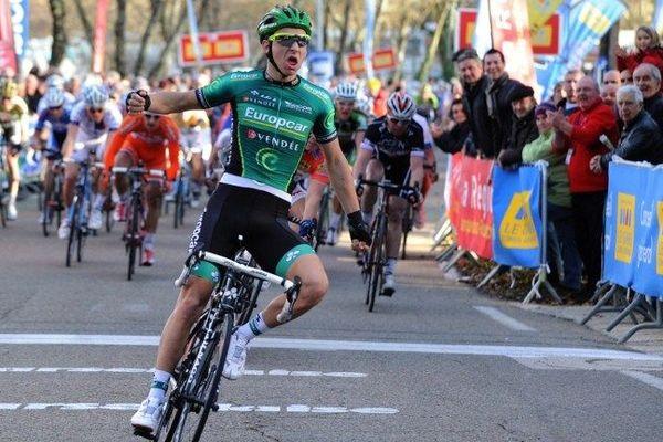 Le vainqueur de la deuxième étape Bryan Coquard