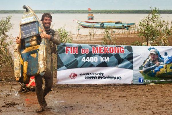 En 2014, Rémi Camus a descendu le tumultueux fleuve Mékong, à bord de son hydrospeed.