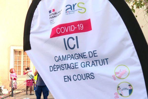 Campagne gratuite de dépistage de la covid-19 à Angers