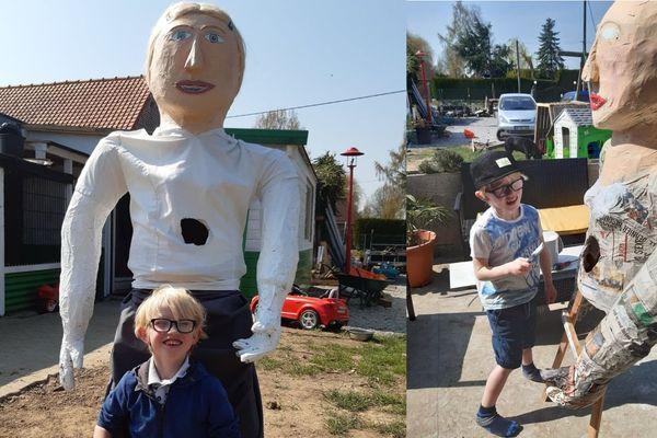 À 5 ans, Tom a déjà construit une dizaine de géants.