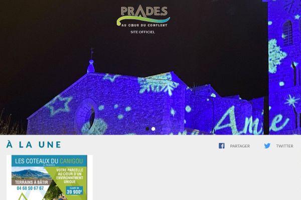 Une du site de la mairie de Prades - 6 janvier 2021.