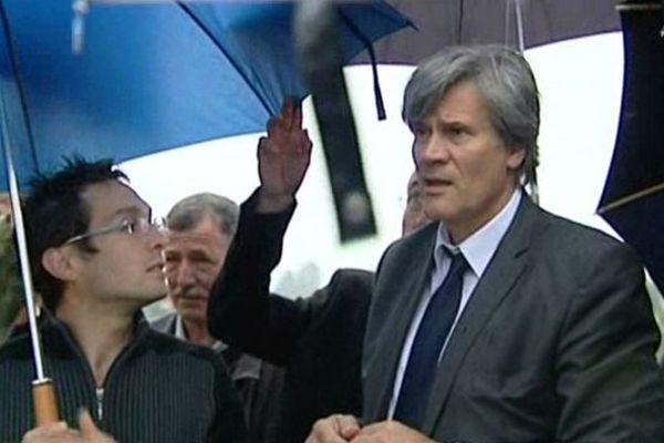 Le ministre de l'agriculture est venu à Lestelle-Betharam au lendemain de sa visite en Haute-Garonne