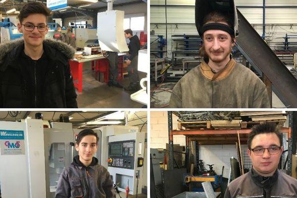 Clément, Dimitri, Alexis et Steven : quatre élèves des écoles de production de  Dole et de Besançon