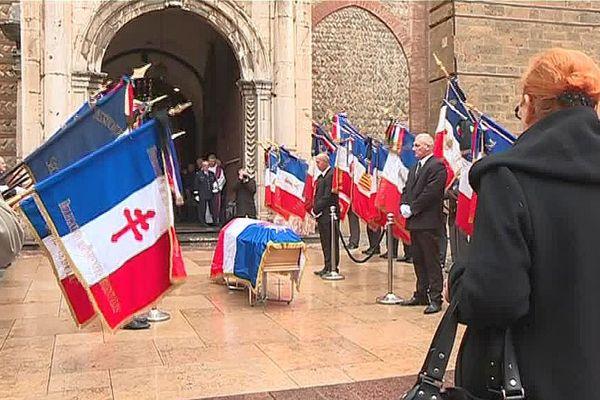 Perpignan - honneurs militaires à André Salvat, Compagnon de la Libération - 14 février 2017.