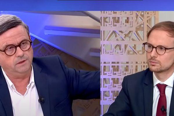 Didier Pillon face à Florian Bercault, les deux candidats du second tour pour les municipales à Laval le 28 juin prochain