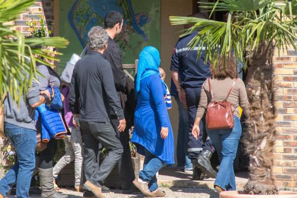Arrivée de réfugiés syriens en France. Archives.