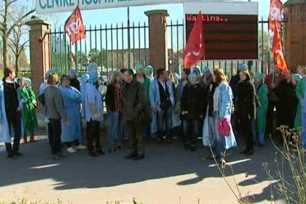 Les infirmières du CHU d'Amiens en grève
