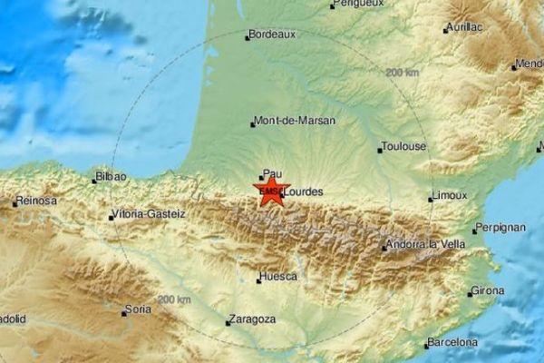 Le tremblement de terre de magnitude 3,5 s'est produit dans les Hautes-Pyrénées dimanche 24 mai.