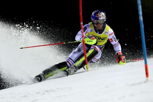 Alexis Pinturault à la Coupe du monde de ski alpin FIS à Madonna di Campiglio, Italie, 22 décembre 2020.