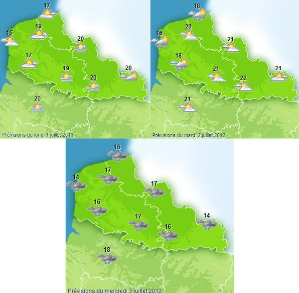 Début de semaine maussade selon Météo France, surtout mercredi.
