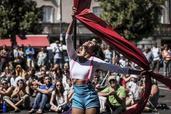 Au festival d'Aurillac en 2013.