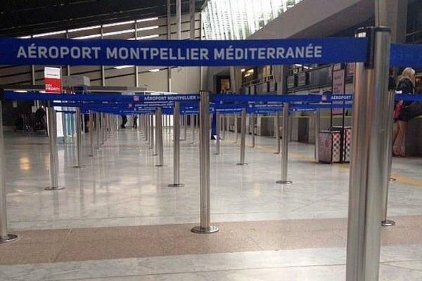 Montpellier - la hall départ de l'aéroport - 15 septembre 2014.
