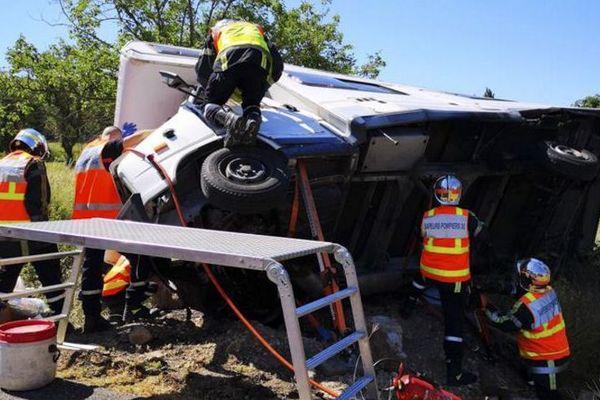 Vallérargues (Gard) - un homme de 35 ans décédé, une fillette de 8 ans héliportée - juillet 2018.