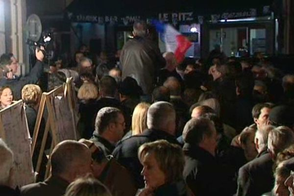 Les militants UMP à Béziers le soir du second tour