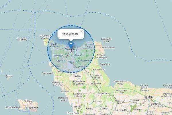Les 20 kilomètres autour de Cherbourg