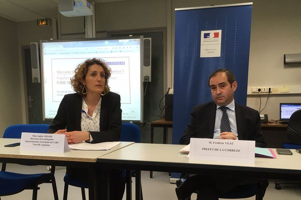 Conférence de presse du Préfet de la Corrèze avec la directrice départementale de l'ARS
