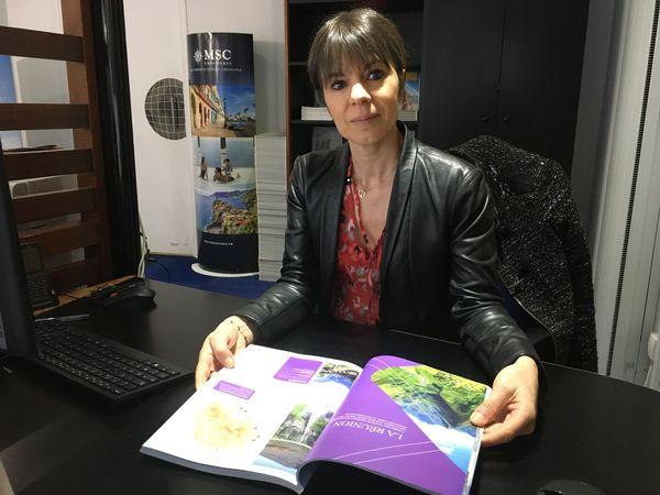 La responsable de l'agence Navitour , Laurence Derue à Charleville-Mézières, voit un changement dans les choix de vacances