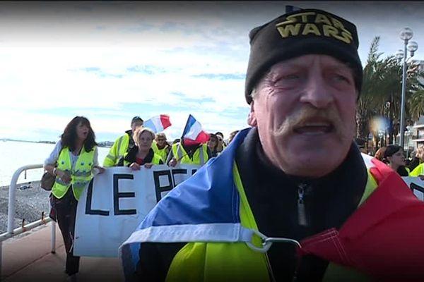 Patrick Cribouw lors d'une manifestation à Nice, sur la Promenade des Anglais.