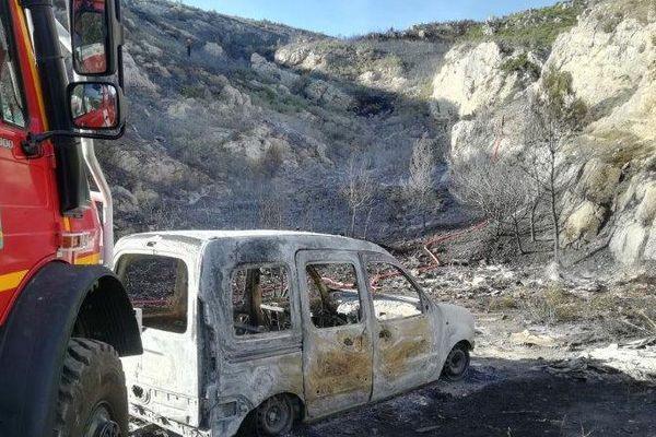 L'incendie sur le Massif de la Nerthe dans le 16ème à Marseille est dû a une voiture brûlée