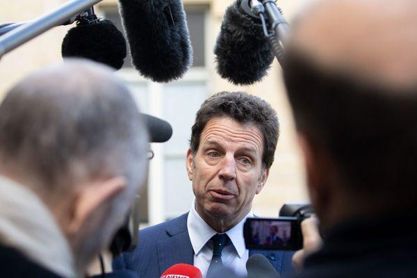 Geoffroy Roux de Bezieux au ministère du Travail le 13 mars 2020.